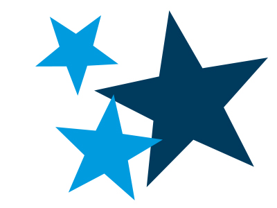Blue and navy stars