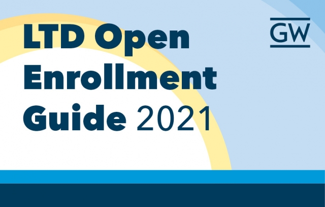 Sun with blue sky and text LTD Open Enrollment Guide 2021