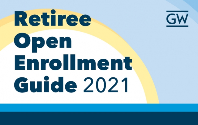 Sun with blue sky and text Retiree Open Enrollment Guide